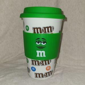 M&M's 3PC: Ceramic Mug, Silicone Gripper & Lid